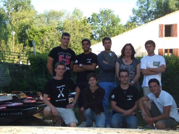 La team de l'embarcadère de la Venise Verte