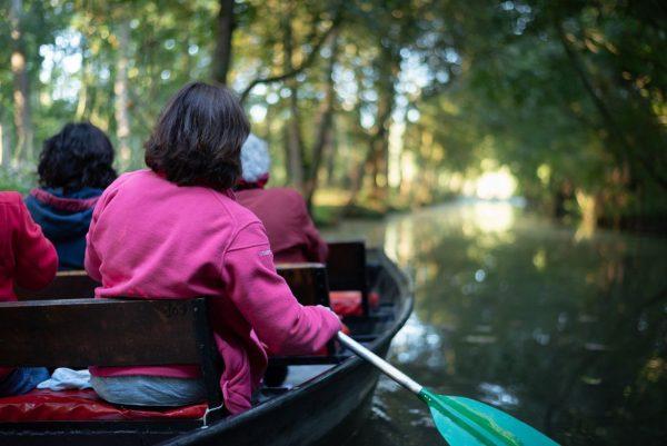 Promenade en barque sur la Venise Verte