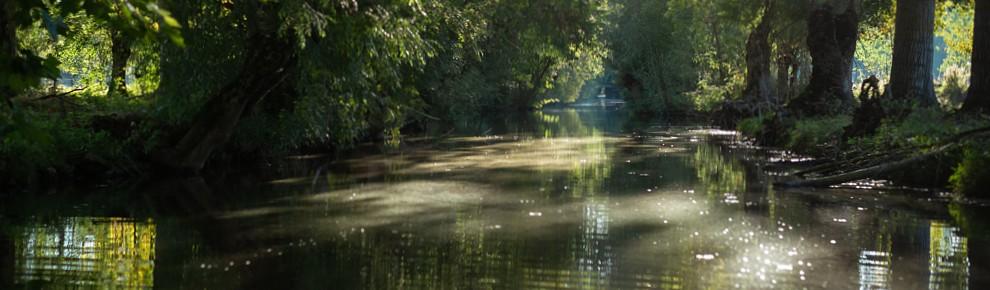 Embarcadère la Venise Verte dans le Marais Poitevin